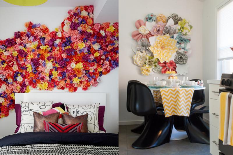 arte de parede com flores