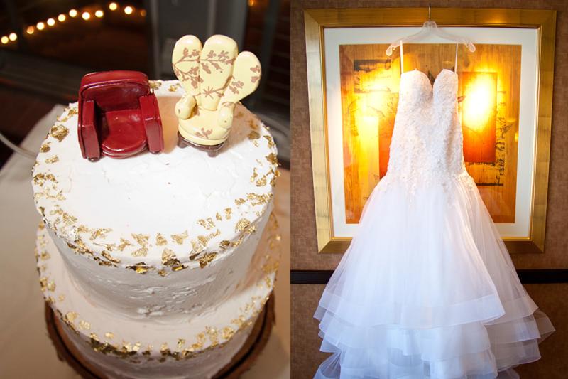 bolo e vestido