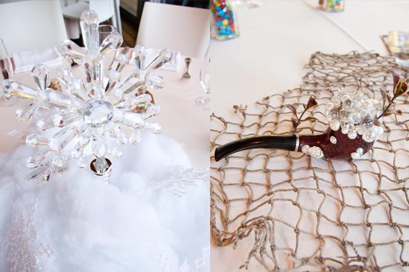 detalhes mesa frozen e pequena sereia