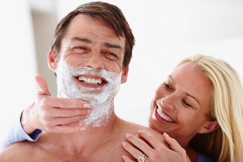 faca a barba do seu marido