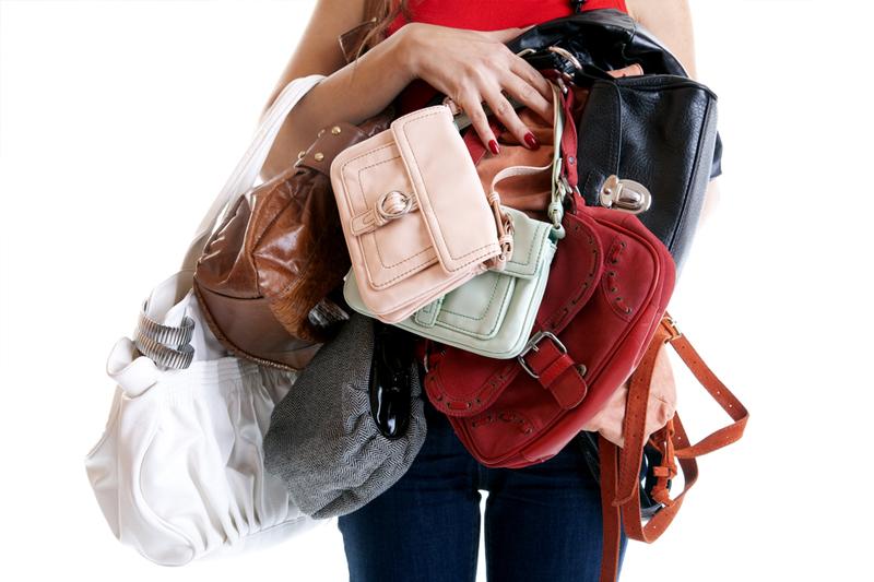 formas criativas para organizar as bolsas