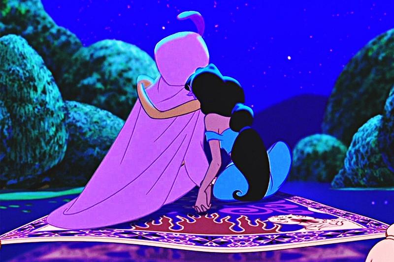 Aladdin e Jasmine no tapete magico