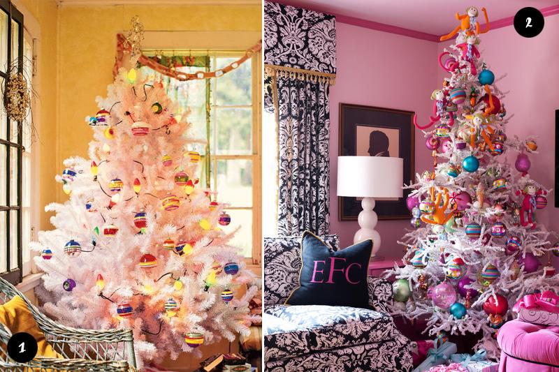 Arvores de Natal brancas