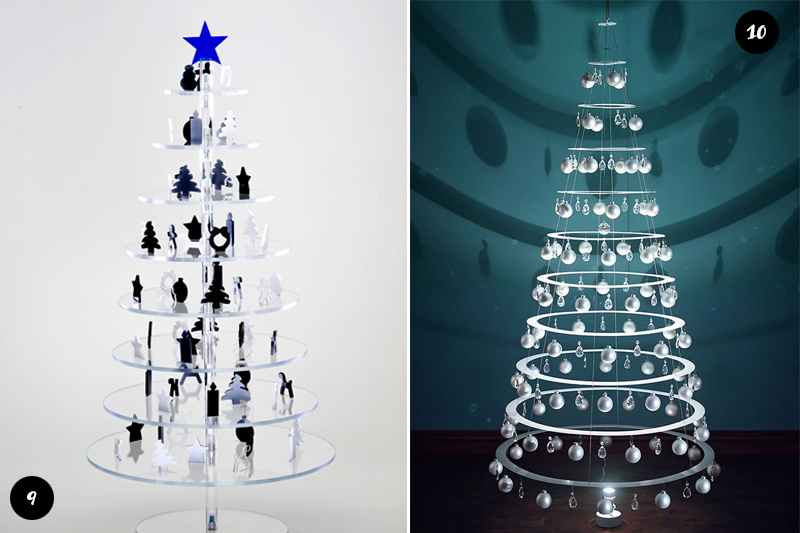 Arvores de Natal modernas