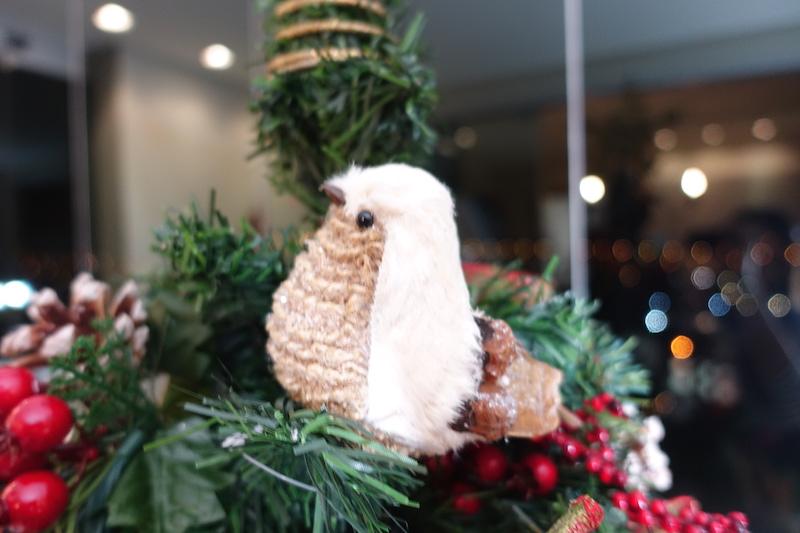 enfeite de natal passarinho