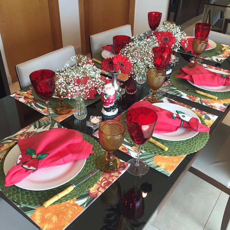 mesa de almoco jantar natal
