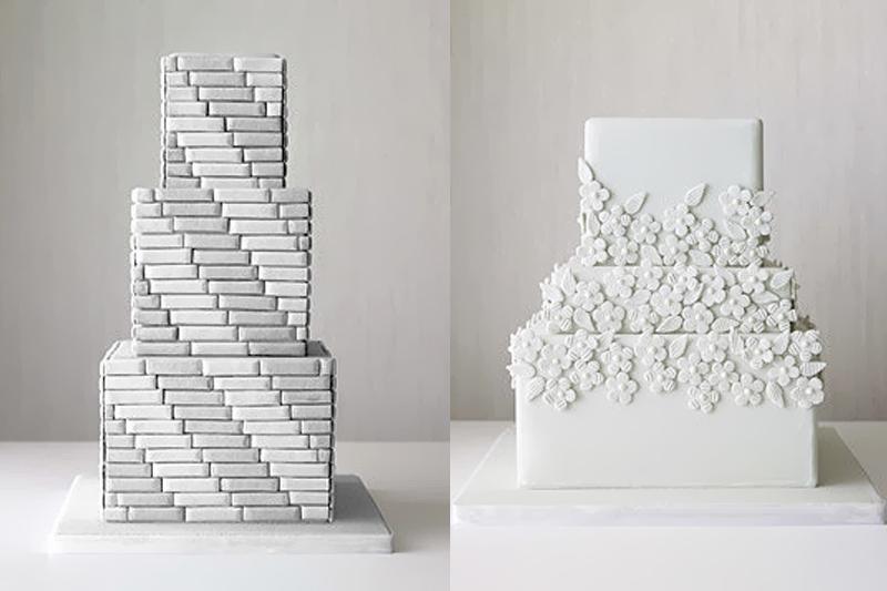 bolos de casamento quadrados