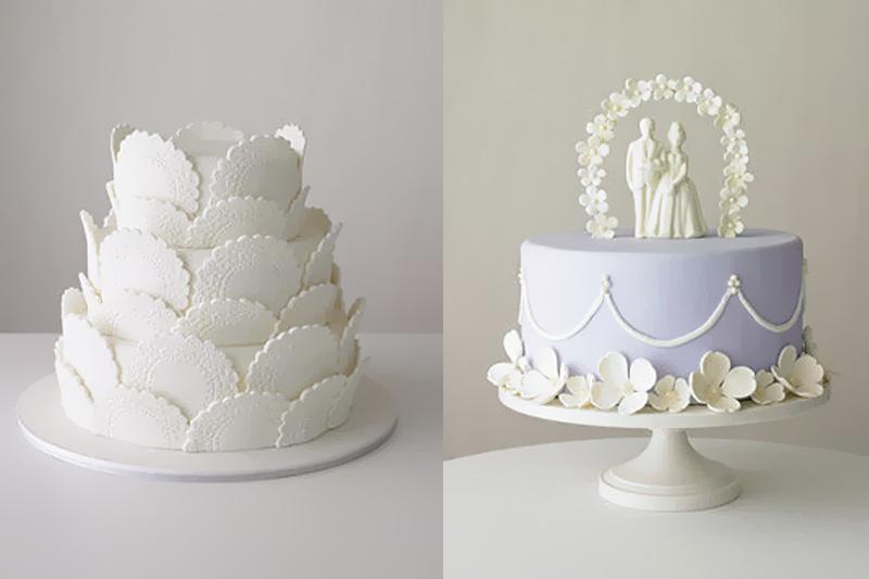 bolos de casamento simples e decorados