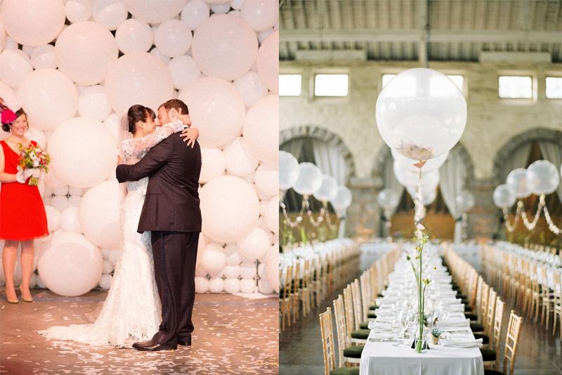 decoracao de festa de casamento simples baloes