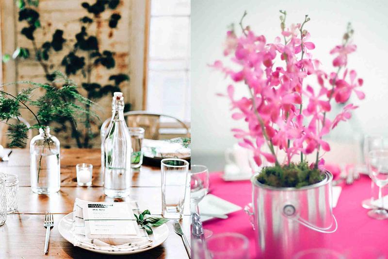diy vasos de flores para casamentos simples
