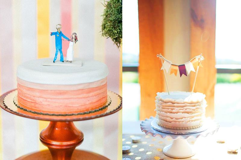 topos de bolo de casamento diferentes para bolos simples