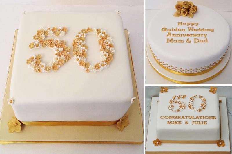 bolo de bodas de ouro classicos