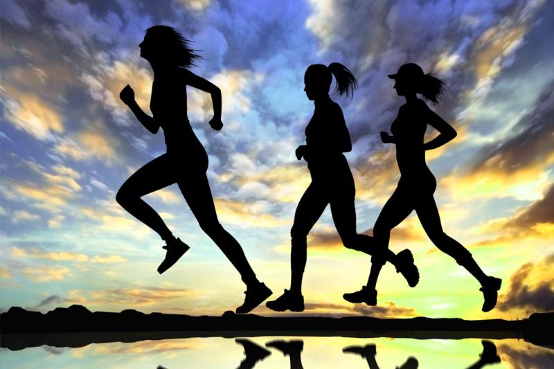 correr com as amigas