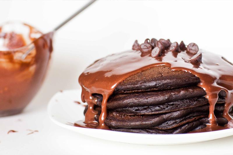 festa infantil panquecas de chocolate
