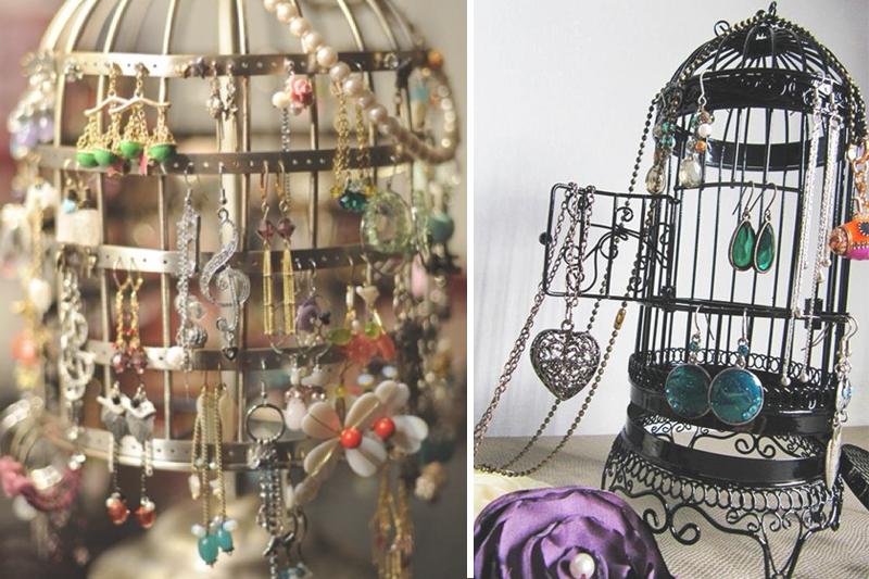 como organizar bijuteria gaiolas de passarinhos