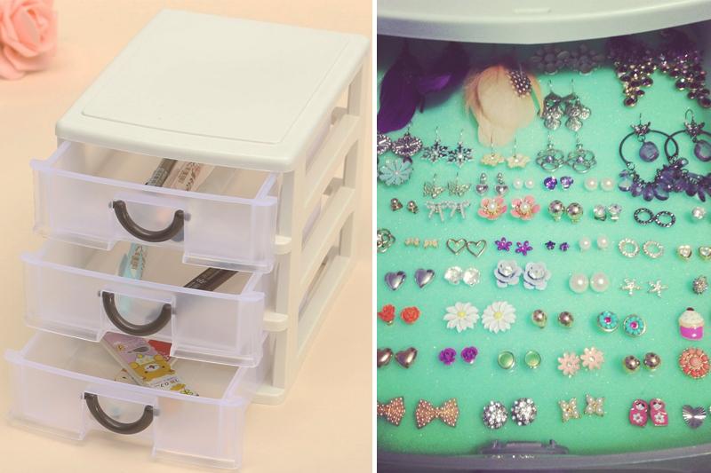como organizar bijuteria mini gaveteiros