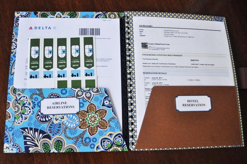 como organizar sua viagem pasta com documentos