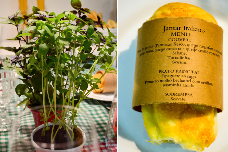 jantar italiano da Evelin detalhes