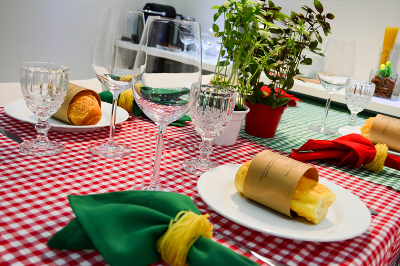 jantar italiano da Evelin porta guardanapo de macarrao