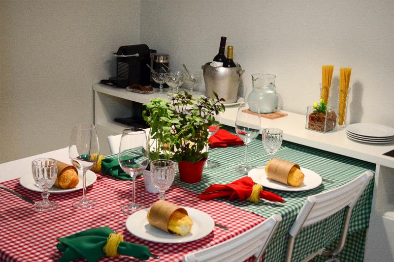 mesa posta jantar italiano