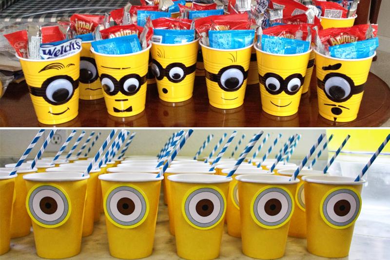 decoracao de festa infantil minions copos personalizados