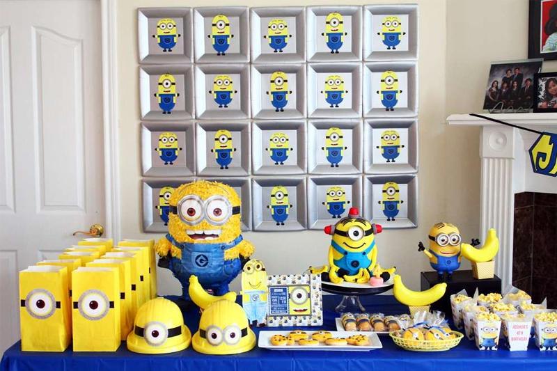 decoracao de festa infantil tematica minions