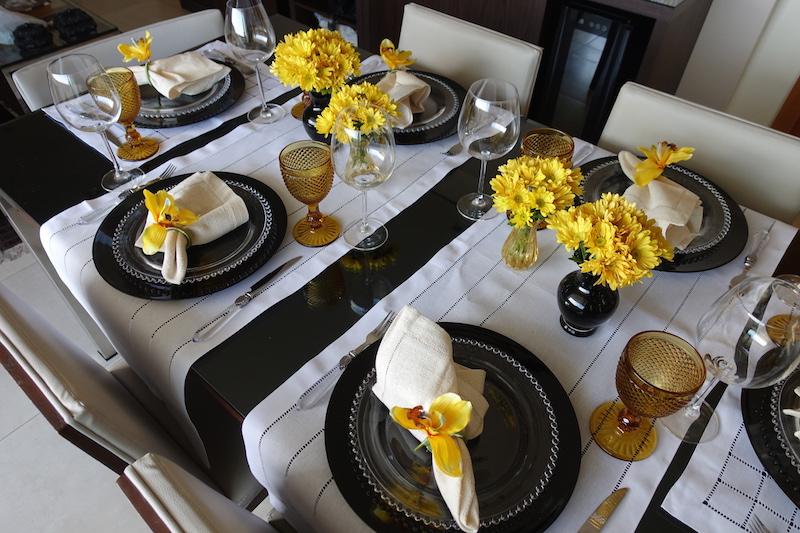 Passadeira Branca decoracao de mesa