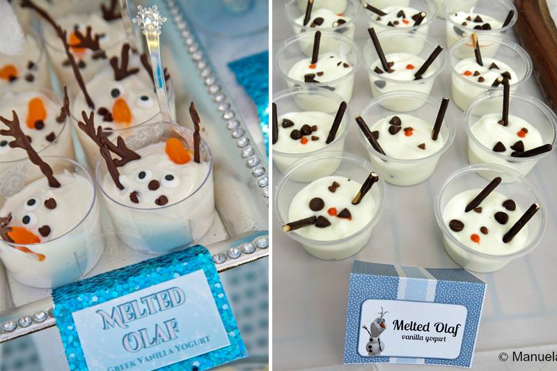 comidas tematicas para festa de aniversario Frozen