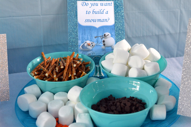 comidas tematicas para festa infantil de Frozen