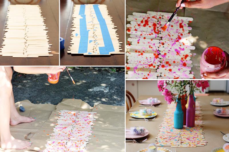 enfeite de aniversario simples para mesa