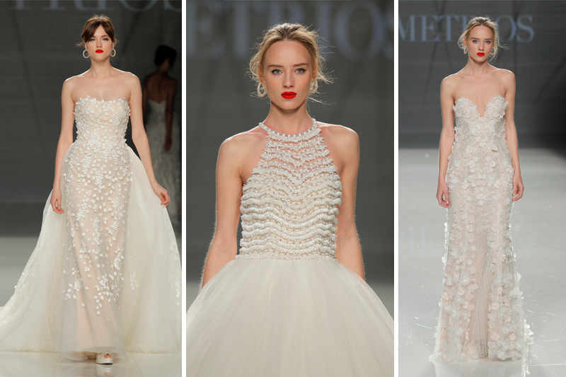 vestido de noiva tendencias bordado 3d