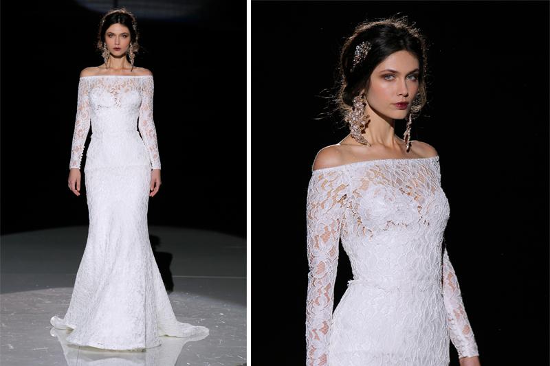 vestido de noiva tendencias decote ombro a ombro
