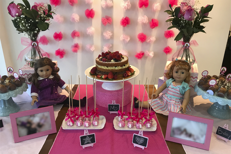 Festa de aniversario infantil tema American Girl