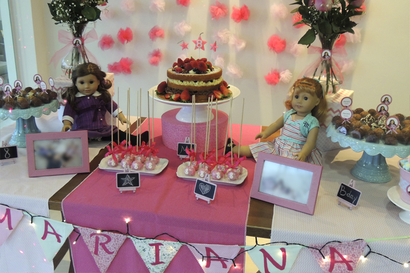 decoracao festa de aniversario infantil American Girl