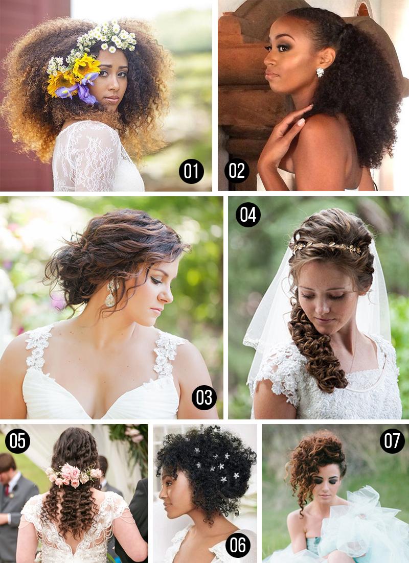 penteados para casamento cabelos cacheados