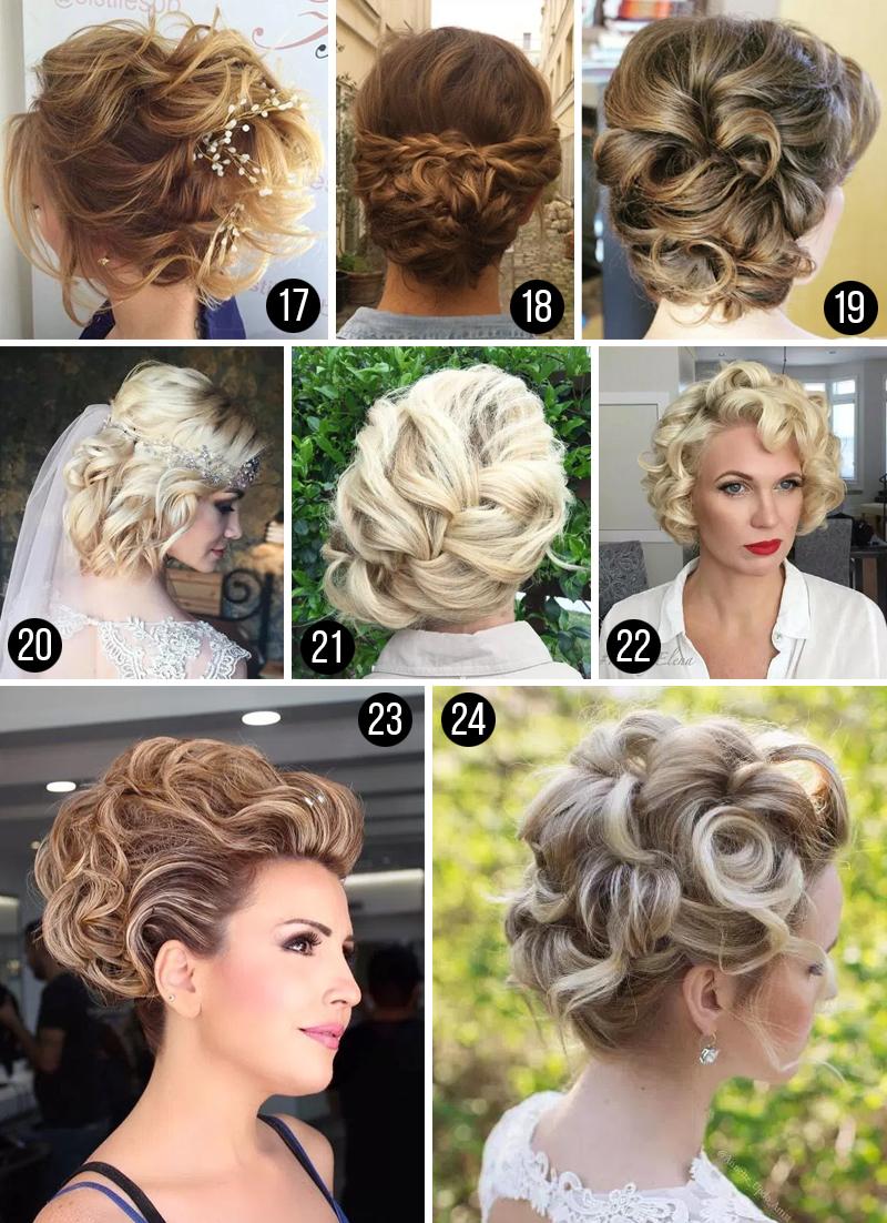 penteados para casamento cabelos curto
