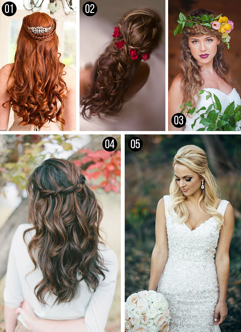 penteados para casamento cabelos longos