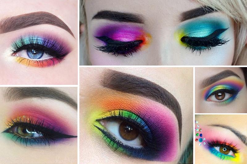 maquiagem para carnaval colorida arco iris