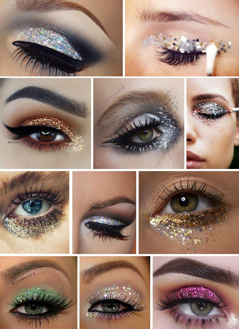 maquiagem para carnaval colorida com glitter
