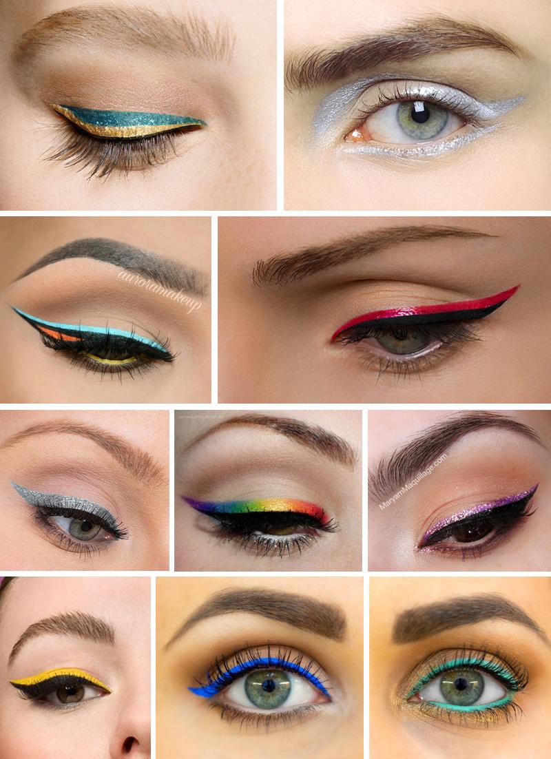 maquiagem para carnaval simples com delineador colorido