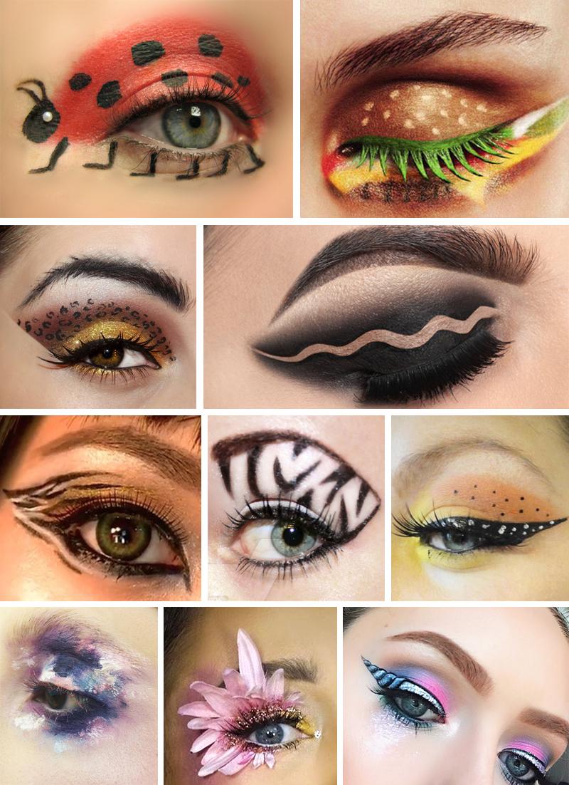 maquiagem para carnaval tematica olhos
