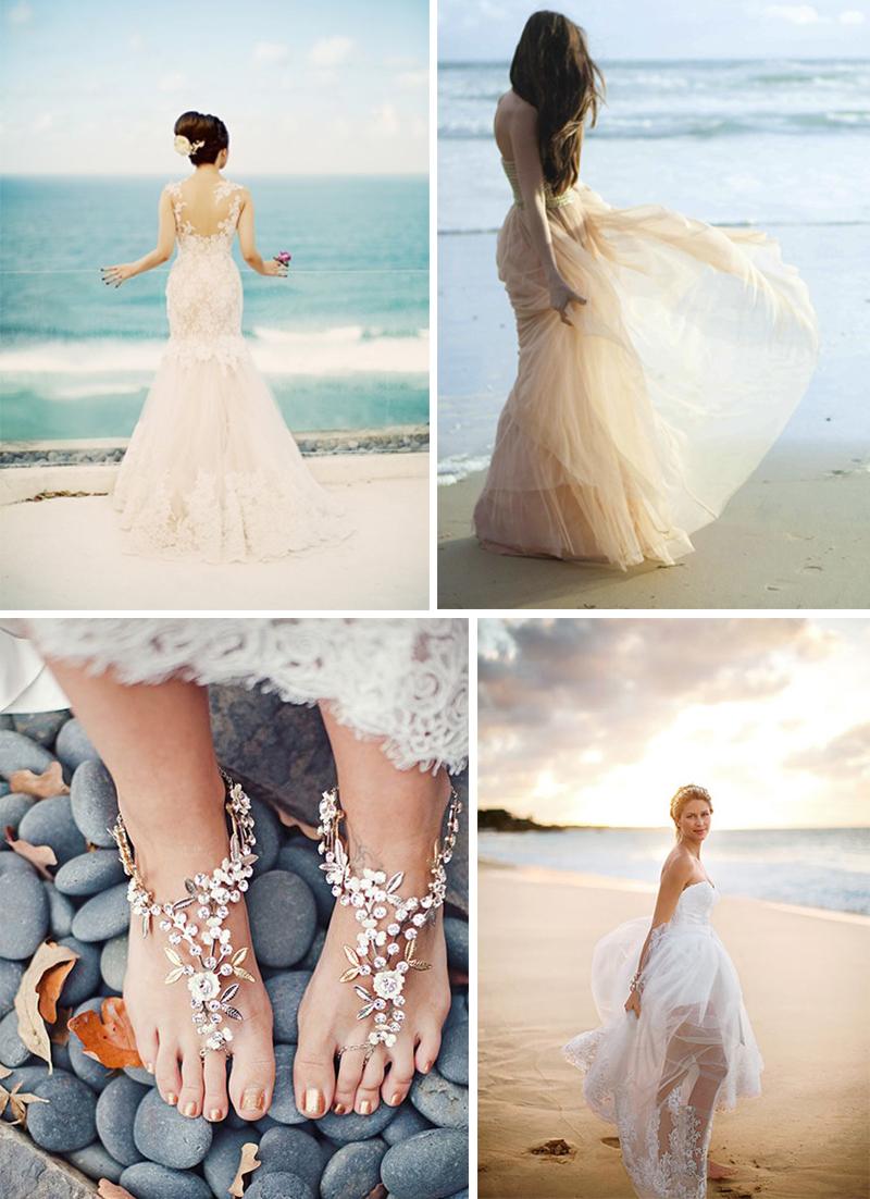 vestidos de noiva casamento na praia