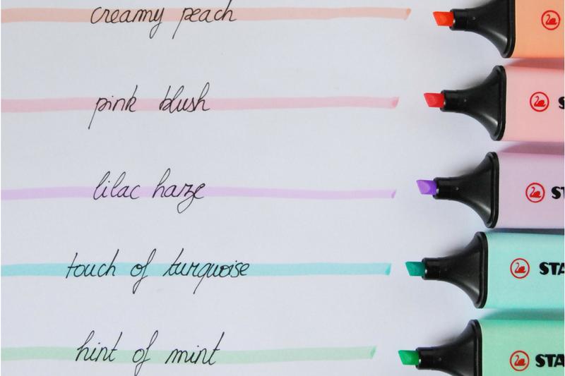 Materiais para decorar planner grifa texto