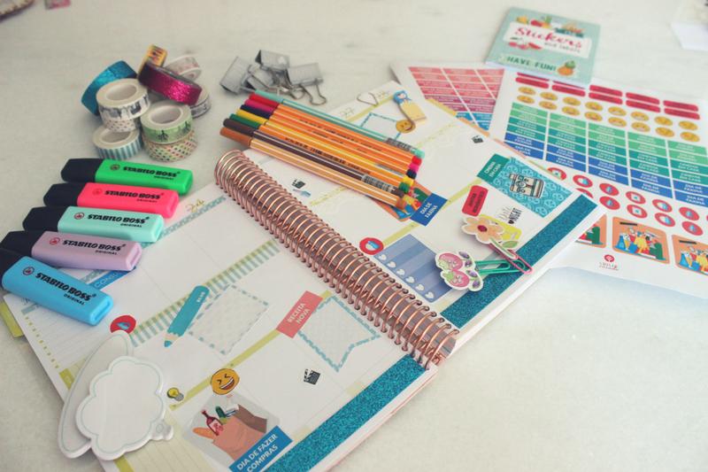 Materiais para decorar planner