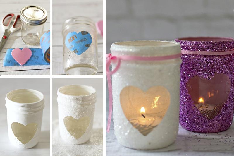 velas com glitter decoracao de dia dos namorados