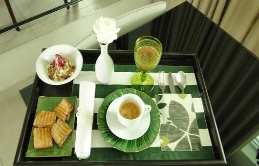 Dica de mesa de café da manhã na cama