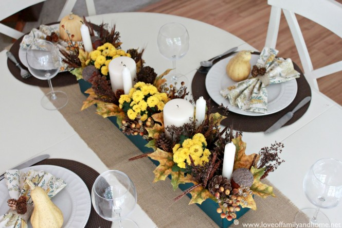Teal & Yellow Fall Tablescape 065 edited