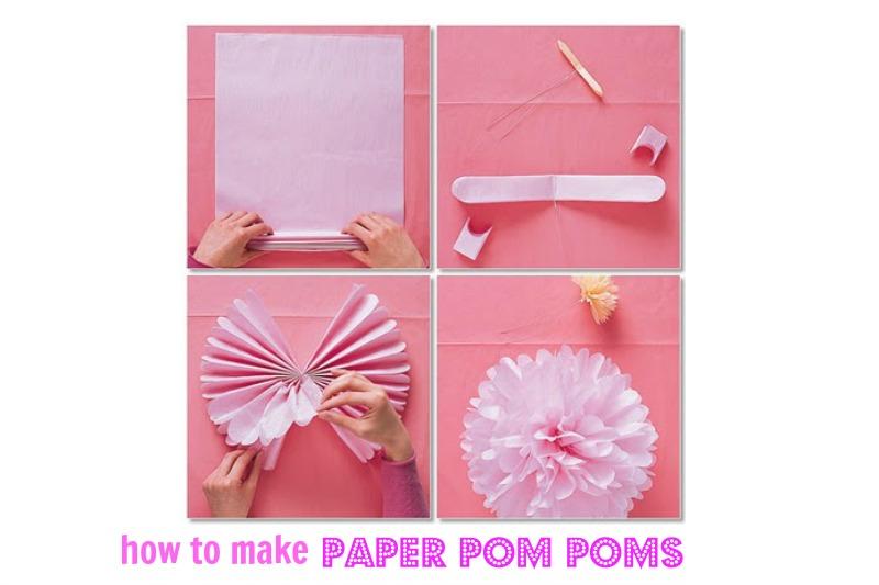 como fazer pom pom de papel