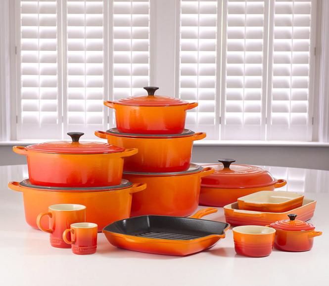 Le Creuset Utilplast coleção laranja