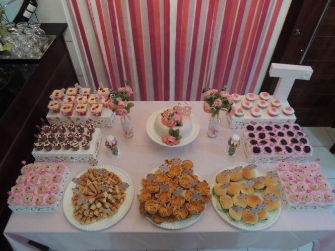 mesa de aniversário em casa